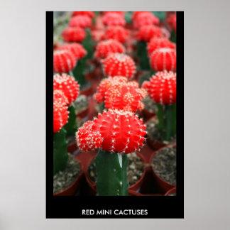 Fila de los cactus poster, impresión