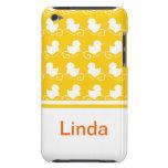 fila de los patos blancos en casamata amarilla del iPod touch Case-Mate cárcasa