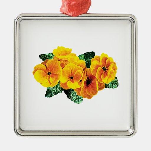 Fila de primaveras amarillas ornamento para arbol de navidad