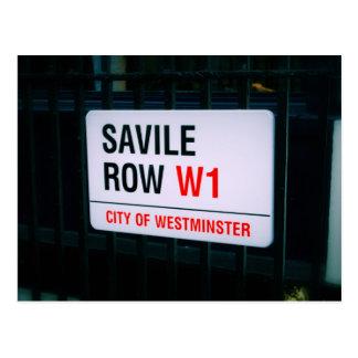 Fila de Savile - Londres - postal