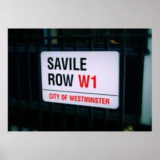 Fila de Savile - Londres - poster