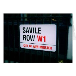 Fila de Savile - Londres - tarjeta de felicitación