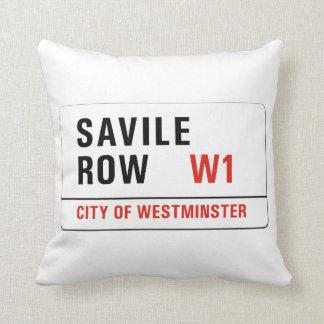 Fila de Savile, placa de calle de Londres Cojín