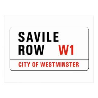 Fila de Savile, placa de calle de Londres Postal