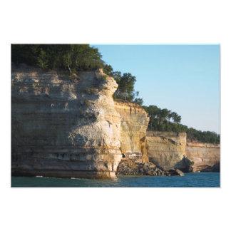 Fila del acorazado, rocas representadas NL, Michig Fotografía