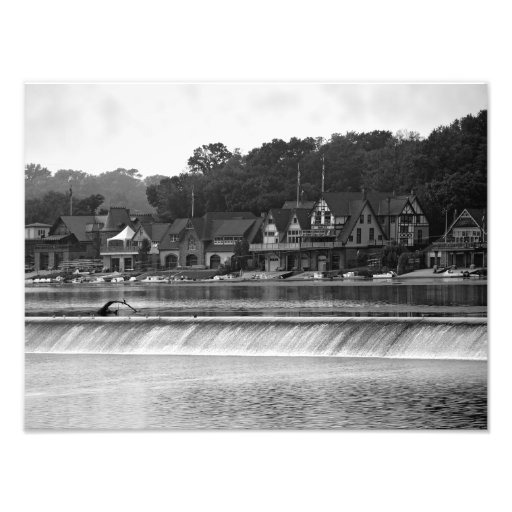 Fila del Boathouse, IMPRESIÓN de la FOTO de Philad Fotografías