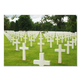 """Fila del cementerio nacional de Arlington de las Invitación 3.5"""" X 5"""""""
