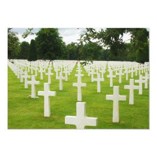 """Fila del cementerio nacional de Arlington de las Invitación 5"""" X 7"""""""