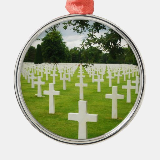Fila del cementerio nacional de Arlington de las l Ornamentos De Navidad