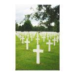 Fila del cementerio nacional de Arlington de las l Lona Envuelta Para Galerías