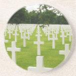 Fila del cementerio nacional de Arlington de las l Posavasos Cerveza