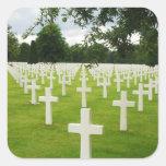 Fila del cementerio nacional de Arlington de las Pegatina Cuadrada