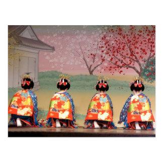 Fila del geisha postal