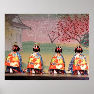 Fila del geisha póster