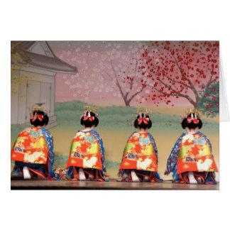 Fila del geisha tarjeta de felicitación