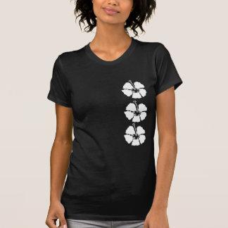Fila del hibisco de flores tee shirts