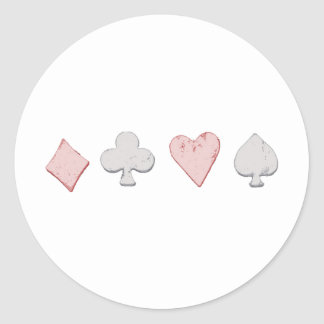 Fila del juego del naipe etiquetas redondas