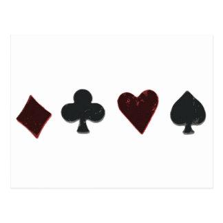 Fila del juego del naipe tarjetas postales