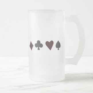 Fila del juego del naipe taza de cristal