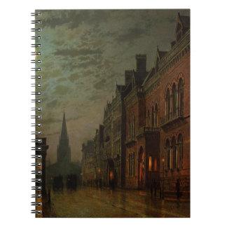 Fila del parque, Leeds de Juan Atkinson Grimshaw Cuaderno