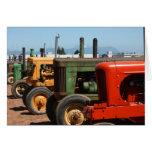 Fila del tractor felicitación