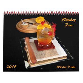 Fila del whisky - bebidas del whisky calendarios