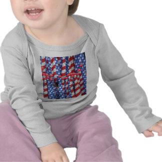 Fila patriótica camiseta