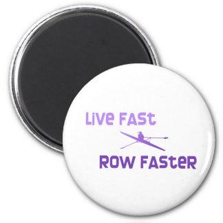 Fila rápida viva de RowChick más rápida Imán Redondo 5 Cm