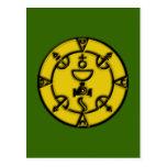 Filacteria sello de la reina amulet charm tarjeta postal