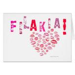 ¡Filakia! (besos) tarjeta griega
