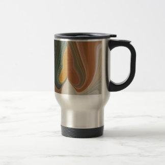 Filamento colorido gráfico abstracto retro fresco taza de viaje