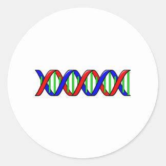 Filamento de la DNA de la ciencia Pegatina Redonda