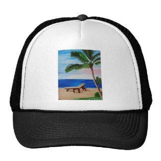 Filamento del Caribe con las sillas de playa Gorros Bordados