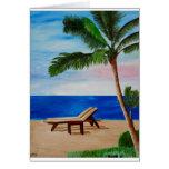 Filamento del Caribe con las sillas de playa Tarjeta De Felicitación