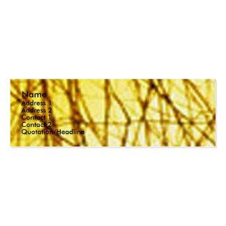 Filamentos de oro tarjetas de visita mini