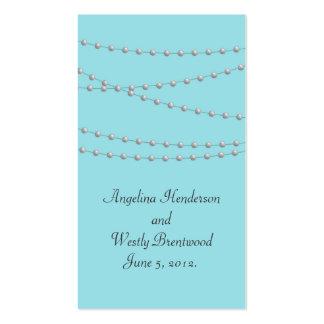 Filamentos de perlas en el Web site del boda de la Tarjetas De Visita