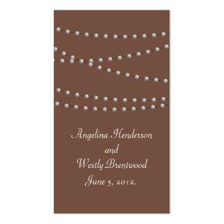 Filamentos de perlas en tarjeta del Web site de Tarjetas De Visita