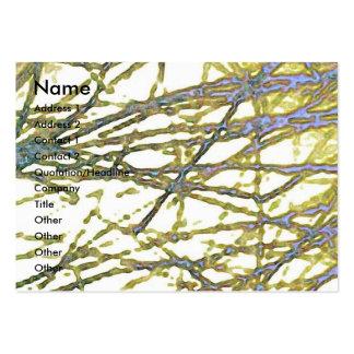 Filamentos de plata tarjetas de visita grandes
