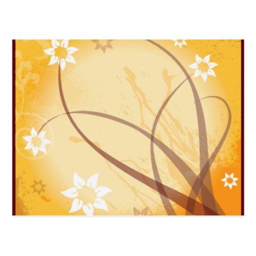 Filamentos del otoño tarjetas postales