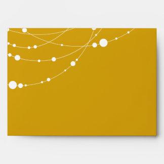 Filamentos elegantes el   amarillo - dirección tra sobres
