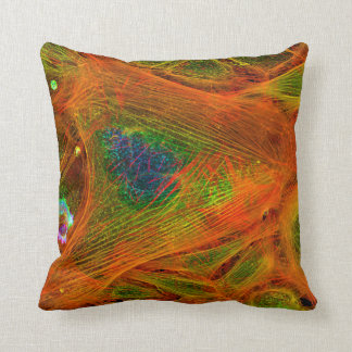 Filaments Orange Blues and Green Pillow