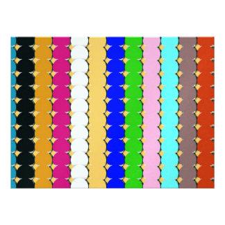 Filas coloridas del círculo invitación