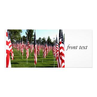 Filas de banderas americanas 9 11 monumento - esqu