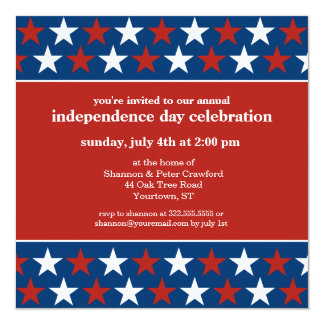 Filas de la invitación del Día de la Independencia