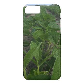Filas de la soja que cultivan la caja del teléfono funda iPhone 7