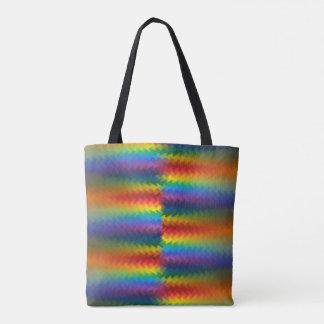 Filas de un fuego del arco iris bolsa de tela