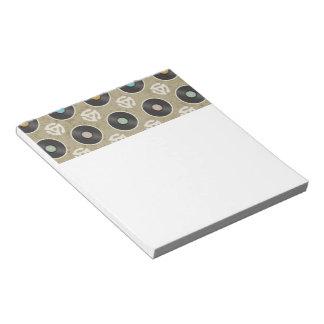 Filas del modelo de los expedientes libreta para notas