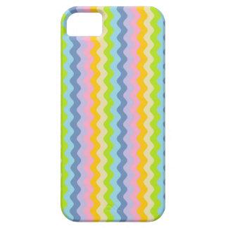 Filas en colores pastel del caso del iPhone de Funda Para iPhone 5 Barely There
