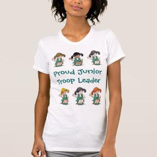 Filas menores orgullosas del joven del líder de la camiseta