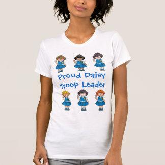 Filas orgullosas de la margarita del líder de la camisetas